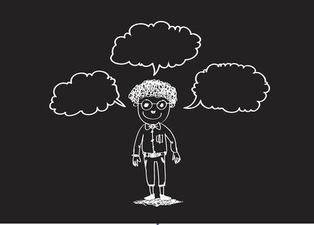 personas pensando: Las personas que piensan Idea Vectores
