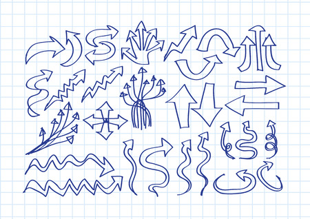 Hand drawn sketch arrow collection for your design  Vector