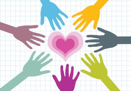 participacion: colorido silueta manos el dise�o de fondo