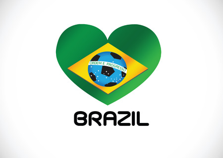 Brazilië Kaart en Voetbal 2014