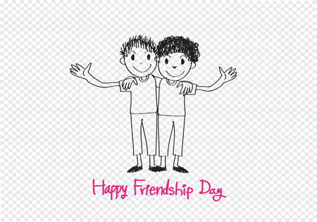 best friends forever: Happy Friendship Day and Best Friends Forever idea design