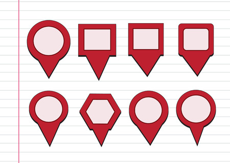 map pointers mapping pins icon Vector