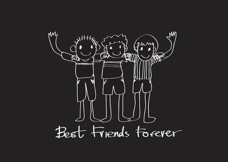 forever: Happy Friendship Day and Best Friends Forever idea design