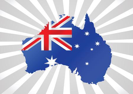 commonwealth: Map and flag of Australia idea design