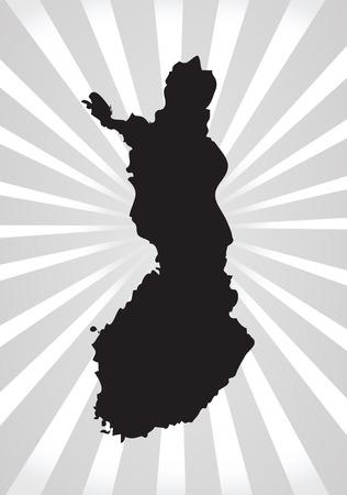 suomi: Finland map and flag idea design