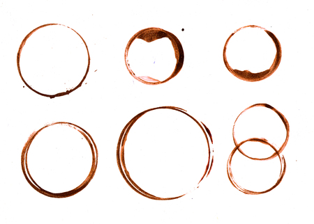prints rings of coffee cup photo