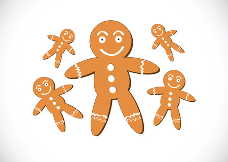 Christmas cookies Gingerbread cookie Vector