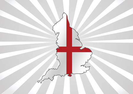 edinburgh: Karte von England Flagge Dekorative Idee Design