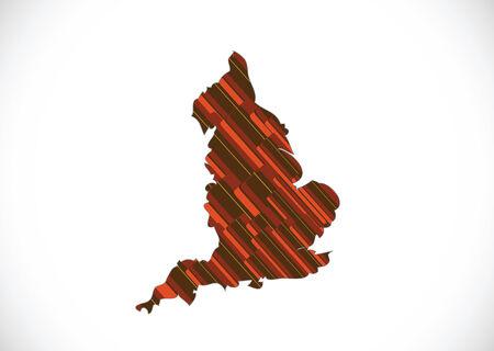 edinburgh: kaart van Engeland Decoratieve ideeontwerp Stock Illustratie
