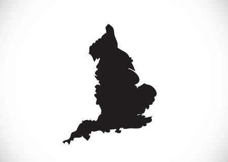 shire: map of  England flag  Decorative idea design Illustration