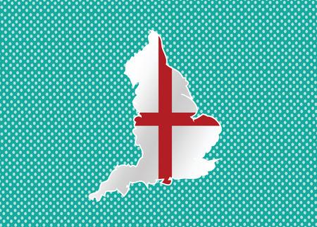 edinburgh: Karte von England-Flagge Dekorative Idee Design Illustration