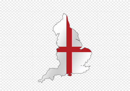 leeds: map of  England flag  Decorative idea design Illustration