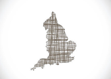 leeds: map of  England  Decorative idea design Illustration