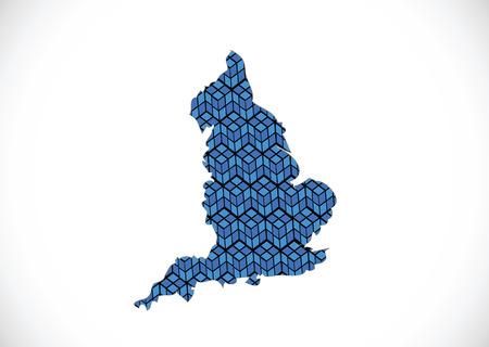 edinburgh: kaart van Engeland decoratieve ideeontwerp