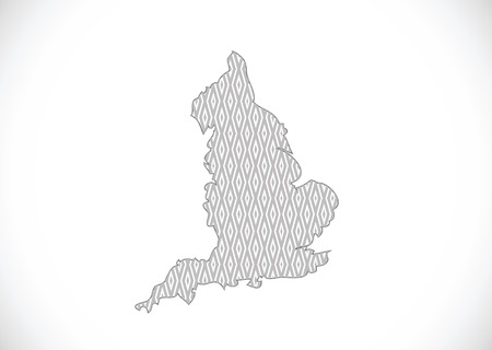 liverpool: map of  England  Decorative idea design Illustration