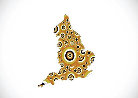 map of  England  Decorative idea design Illustration