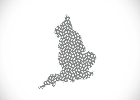 shire: map of  England  Decorative idea design Illustration