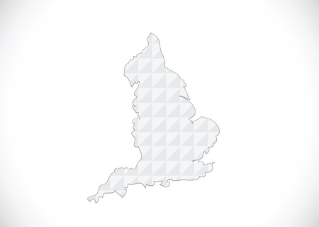 map of  England  Decorative idea design Illustration