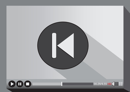 Video player media for web Vector