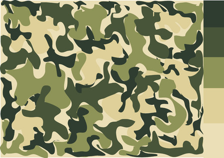 fatigues: Camouflage pattern design Illustration