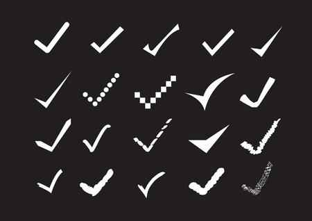 true sign confirm icons set Vector