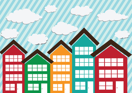 little town: Little Town Townhouses  and home design