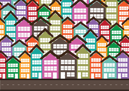 Colorful Cityscape  Town city building design Vector