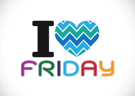 i love friday font signs Ideal design Vector