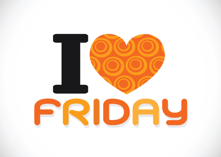 i love friday font signs Ideal design photo