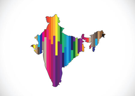 Map of India  idea design  Vector
