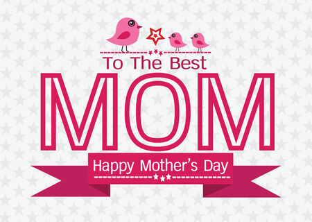 Happy mothers day Greeting card design for your mom Vector