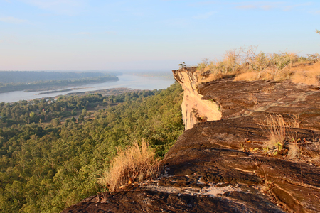 lanscape: View lanscape of Pha Taem National Park in the Ubon Ratchathani , Thailand Stock Photo