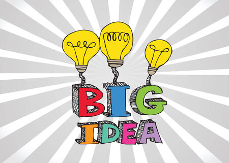 big idea Light bulb  illustration icon Illustration