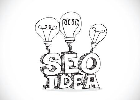 Bulb SEO Idea Search Engine Optimization concept design Stock Vector - 28262694