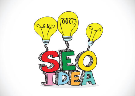 Bulb SEO Idea Search Engine Optimization concept design Stock Vector - 28262699