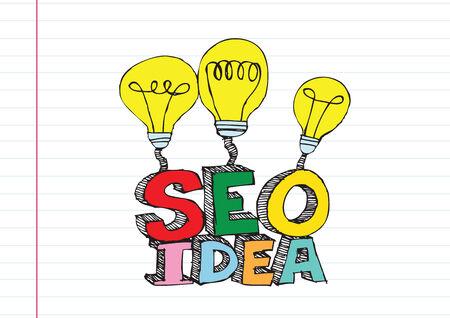Bulb SEO Idea Search Engine Optimization concept design Stock Vector - 28262696