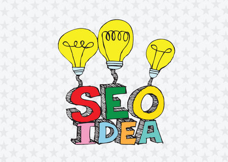 Bulb SEO Idea Search Engine Optimization concept design Stock Vector - 28262704