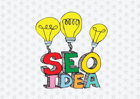 Bulb SEO Idea Search Engine Optimization concept design Stock Vector - 28262704