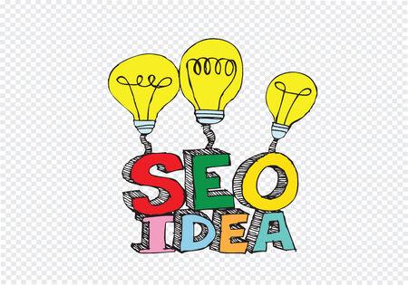 Bulb SEO Idea Search Engine Optimization concept design Stock Vector - 28262702