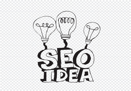 Bulb SEO Idea Search Engine Optimization concept design Stock Vector - 28262705