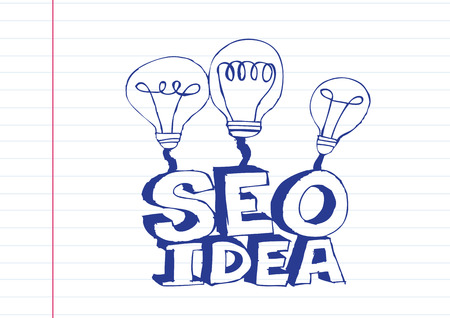Bulb SEO Idea Search Engine Optimization concept design Stock Vector - 28262706