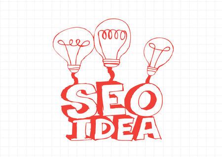 Bulb SEO Idea Search Engine Optimization concept design Stock Vector - 28262707