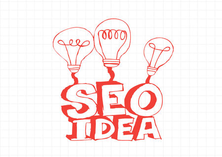 Bulb SEO Idea Search Engine Optimization concept design Stock Vector - 28262707