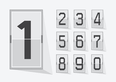 tableau: Numbers clock flip Scoreboard Illustration