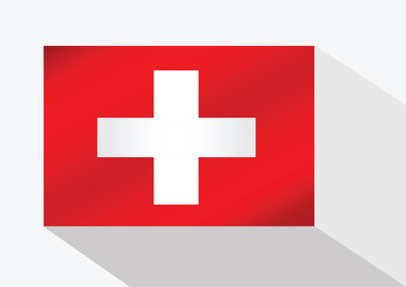 swiss flag: Swiss  flag Illustration