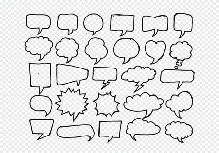 Speech Bubble Sketch hand drawn bubble speech