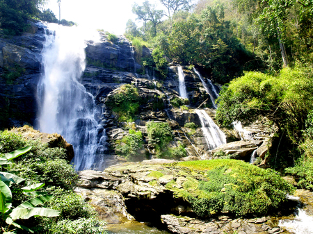 waterfall on Doi Inthanon, Chiang Mai, Thailand photo