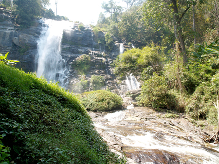 doi:  waterfall on Doi Inthanon, Chiang Mai, Thailand