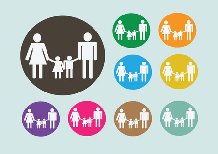 Pictograms family Icon Sign Symbol Pictogram Vector