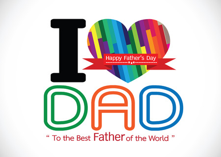 Happy Father Day Illustration  Vector